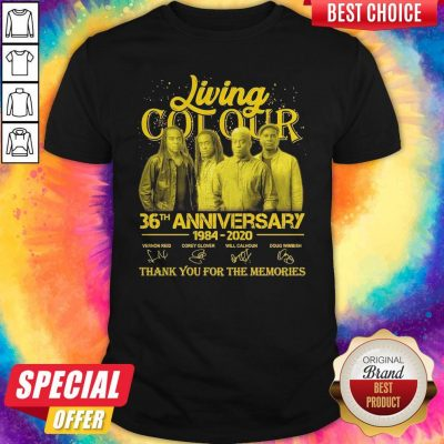 Pretty Living Cot Our 36th Anniversary 1984 2020 Thank You For The Memories Signatures Shirt
