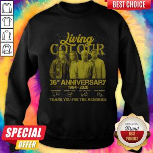 Pretty Living Cot Our 36th Anniversary 1984 2020 Thank You For The Memories Signatures Sweatshirt