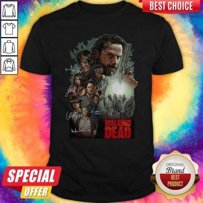Top The Walking Dead Signatures Shirt