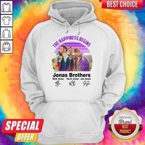 Top Vintage The Happiness Begins Jonas Brothers Signatures Hoodie