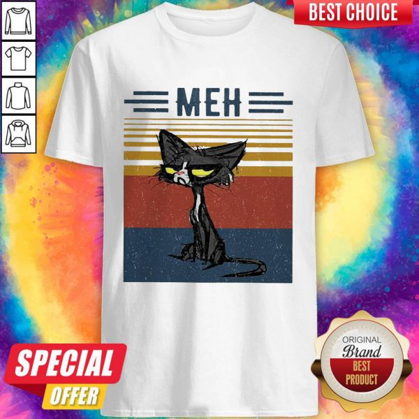 Awesome Cat Meh Vintage Shirt