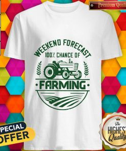 Awesome Weekend Forecast 100% Chance Of Farming Shirt