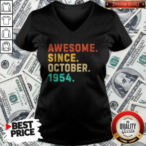 Nice Awesome Since October 1954 Vintage V-neck