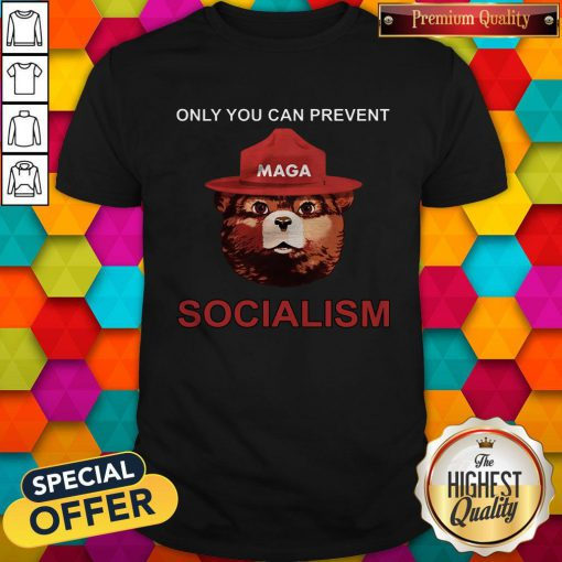 Nice Maga Bear Only You Can Prevent Socialism Shirt