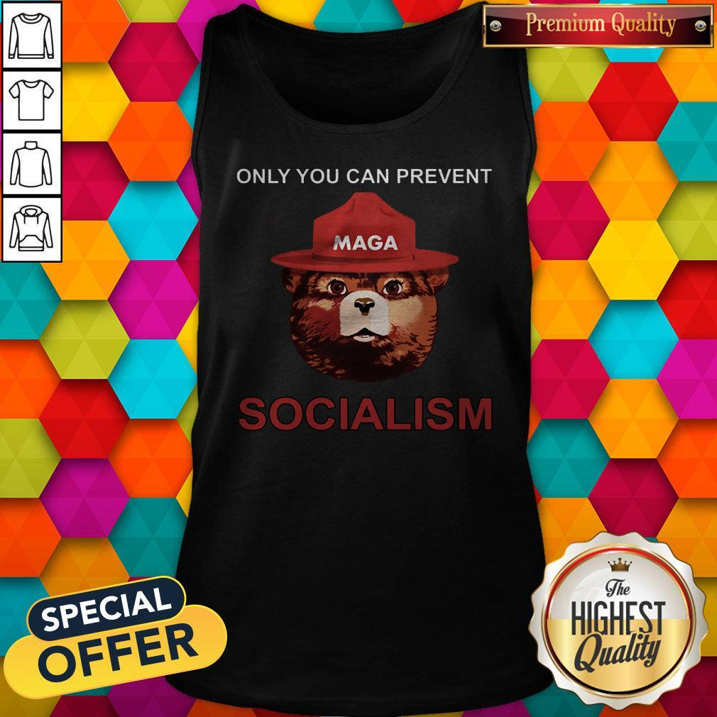 Nice Maga Bear Only You Can Prevent Socialism Tank Top