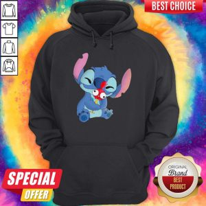 Official Stitch Hug Hey Hey Chicken Hoodie