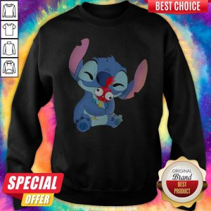 Official Stitch Hug Hey Hey Chicken Sweatshirt