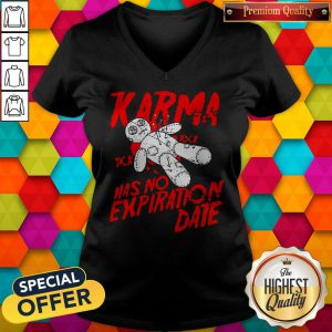 Premium Blood Karma Has No Expiration Date V-neck