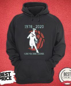 Black Mamba 24 1978 2020 I Love 3000 Legends Hoodie