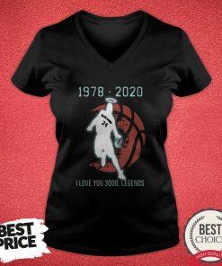 Black Mamba 24 1978 2020 I Love 3000 Legends V-neck