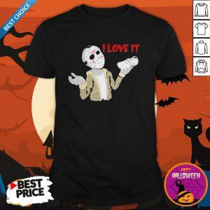 Halloween Jason Voorhees I Love It Cross ShirtHalloween Jason Voorhees I Love It Cross Shirt