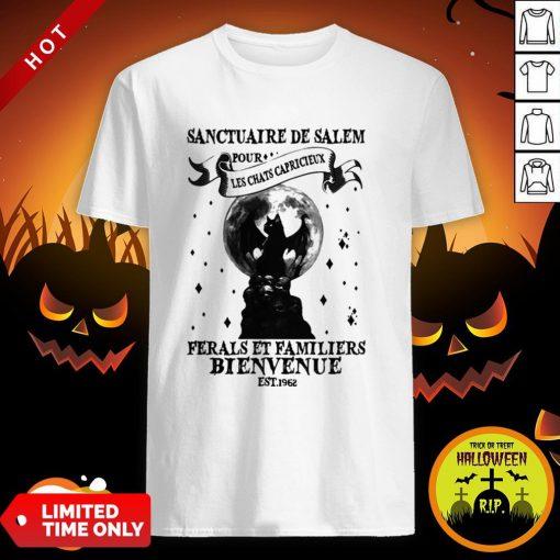 Halloween Sanctuaire De Ferals Et Familiers Bienvenue Est 1962 Shirt