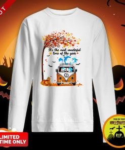Hippie Car Dolphins Its Time Of The Year Halloween Autumn SweatshirtHippie Car Dolphins Its Time Of The Year Halloween Autumn Sweatshirt