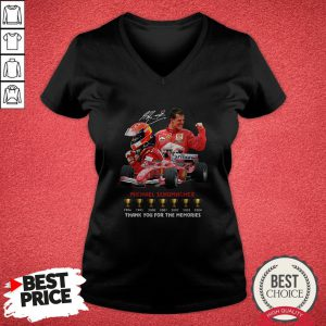 Michael Schumacher Thank You For The Memories V-neck