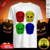 Sugar Skulls Color Day Of The Dead Dia De Muertos Shirt