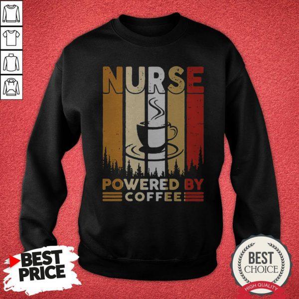 Top Nurse Powered By Coffee VintaTop Nurse Powered By Coffee Vintage Sweatshirtge Sweatshirt