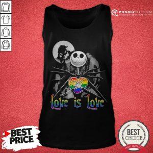 LGBT Jack Skellington The Nightmare Before Christmas Love Is Love Halloween Tank Top