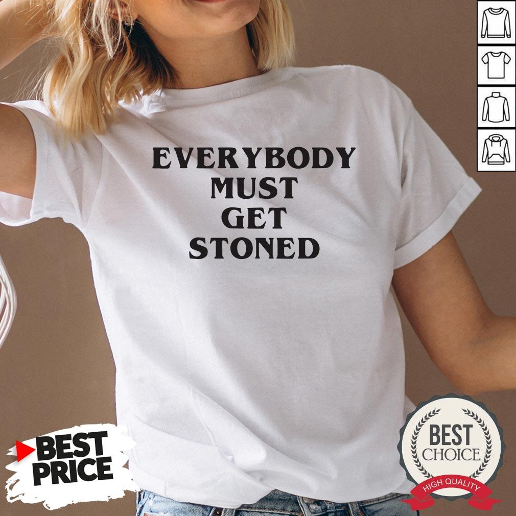 Awesome Everybody Must Get Stoned V-neck - Desisn By Pondertee.com