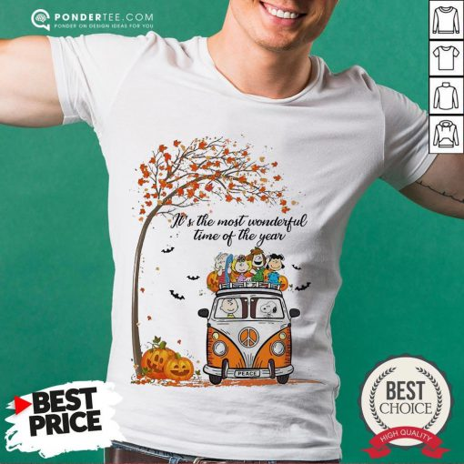 Car Peanuts It's The Most Wonderful Time Of The Year Shirt