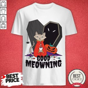 Coffee Halloween Cat Good Meowning Morning Shirt