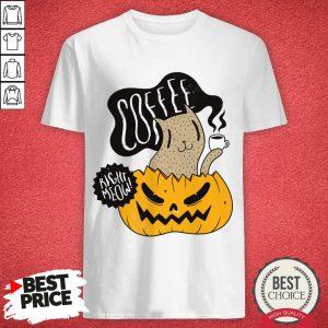 Coffee Right Meow Pumpkin Halloween Day Shirt