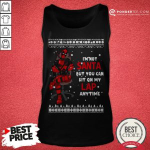 Deadpool I'm Not Santa But You Can Sit On My Lap Anytime Christmas Tank Top - Desisn By Pondertee.com