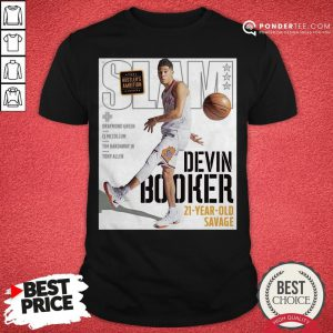 Devin Booker Slam 21 Year Old Savage Shirt - Desisn By Pondertee.com