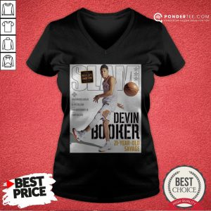 Devin Booker Slam 21 Year Old Savage V-neck - Desisn By Pondertee.com