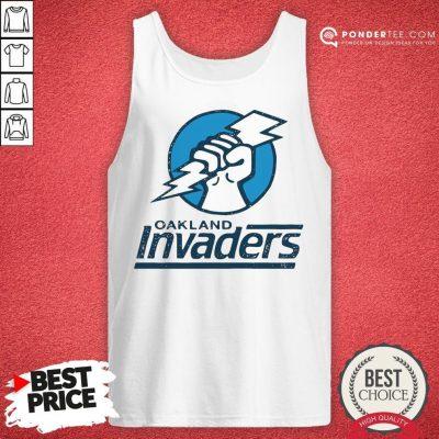Funny Oakland Invaders Football Tank Top - Desisn By Pondertee.com