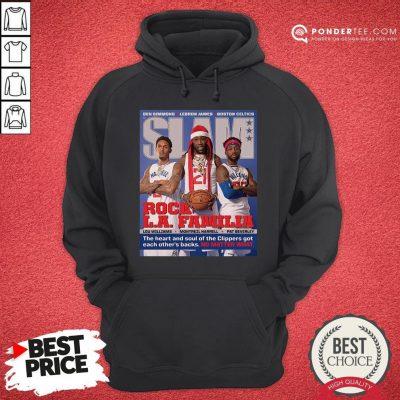 Funny SLAM Cover Clippers Pat Trez Lou Hoodie - Desisn By Pondertee.com