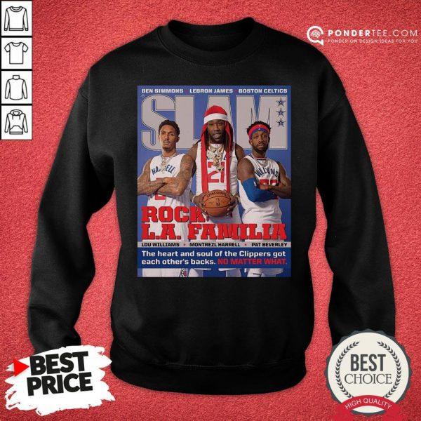 Funny SLAM Cover Clippers Pat Trez Lou Sweatshirt - Desisn By Pondertee.com