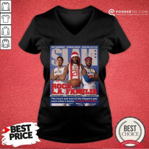 Funny SLAM Cover Clippers Pat Trez Lou V-neck - Desisn By Pondertee.com