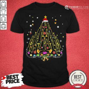 Funny Trumpet Merry Christmas Shirt - Desisn By Pondertee.com