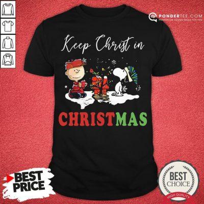 Good Peanuts Charlie Brown And Snoopy Keep Christ In Christmas Shirt - Desisn By Pondertee.com