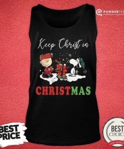 Good Peanuts Charlie Brown And Snoopy Keep Christ In Christmas Tank Top - Desisn By Pondertee.com