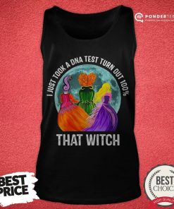 Hocus Pocus I Just Took A DNA Test Turn Out 100 That Witch Halloween Tank Top