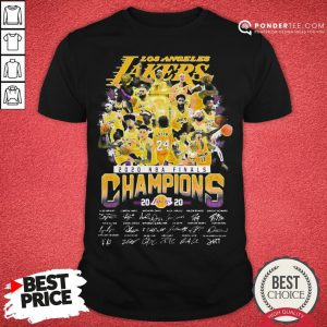 Hot Los Angeles Lakers 2020 NBA Finals Champions Signature Shirt - Desisn By Pondertee.com
