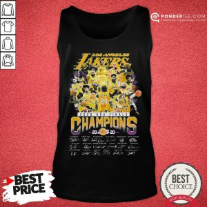 Hot Los Angeles Lakers 2020 NBA Finals Champions Signature Tank Top - Desisn By Pondertee.com
