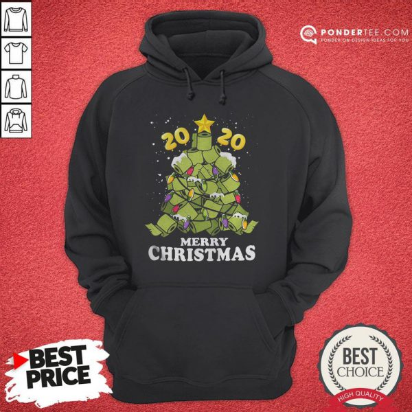 Hot Merry Christmas 2020 Quarantine Toilet Paper Xmas Tree Hoodie - Desisn By Pondertee.com