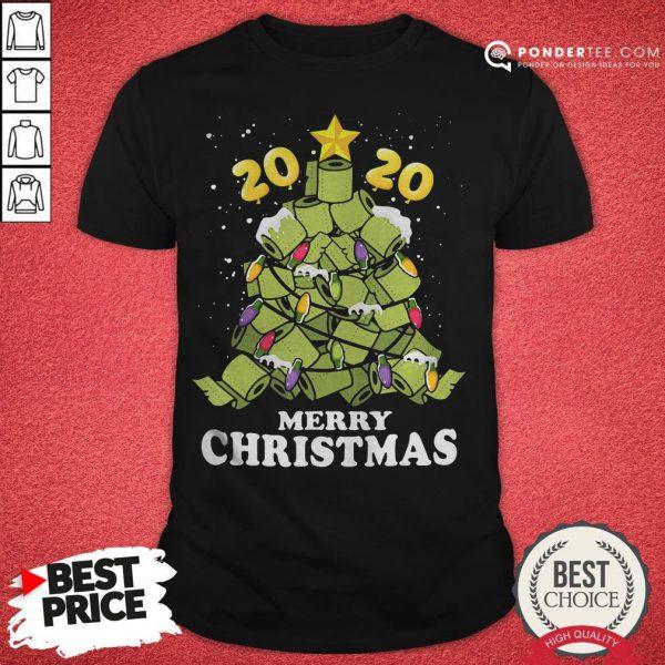 Hot Merry Christmas 2020 Quarantine Toilet Paper Xmas Tree Shirt - Desisn By Pondertee.com