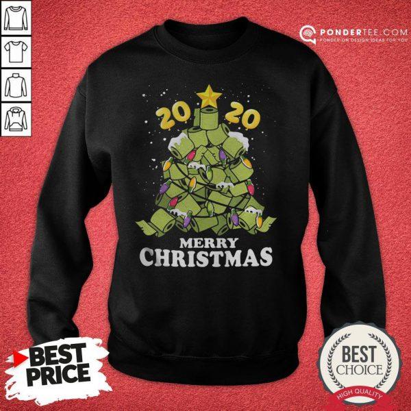 Hot Merry Christmas 2020 Quarantine Toilet Paper Xmas Tree Sweatshirt - Desisn By Pondertee.com