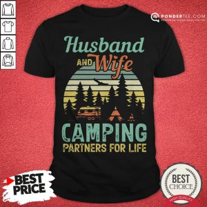 Husband And Wife Camping Partners For Life Retro Shirt - Desisn By Pondertee.com