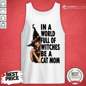 In A World Full Of Witches Be A Cat Mom Halloween Tank Top - Desisn By Pondertee.com