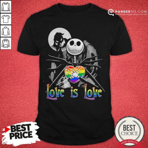 LGBT Jack Skellington The Nightmare Before Christmas Love Is Love Halloween Shirt