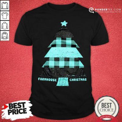 Mint Farmhouse Christmas Raglan Shirt - Desisn By Pondertee.com