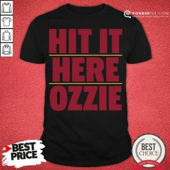 Nice Atlanta Braves Hit It Here Ozzie Shirt - Desisn By Pondertee.com