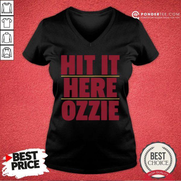 Nice Atlanta Braves Hit It Here Ozzie V-neck - Desisn By Pondertee.com