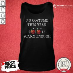 No Costume This Year 2020 Is Scary Enough Apple Halloween Tank Top - Desisn By Pondertee.com