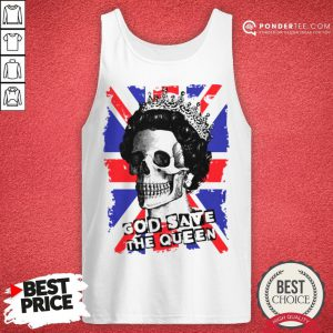 Official Skull God Save The Queen American Flag Tank Top - Desisn By Pondertee.com