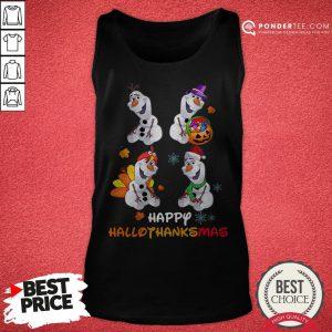 Olaf Halloween And Merry Christmas Happy Hallothanksmas Tank Top - Desisn By Pondertee.com